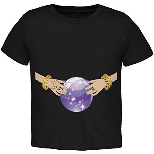 Halloween Fortune Teller Kostüm Zigeuner Kleinkind T Shirt schwarz Toddler Gr. 5/6