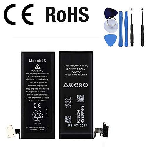 Batteria per Iphone 4S 1430 mAh 3.8V 5.30 Whr CON KIT SMONTAGGIO ANNO 2018 QUALITA' PARI OEM