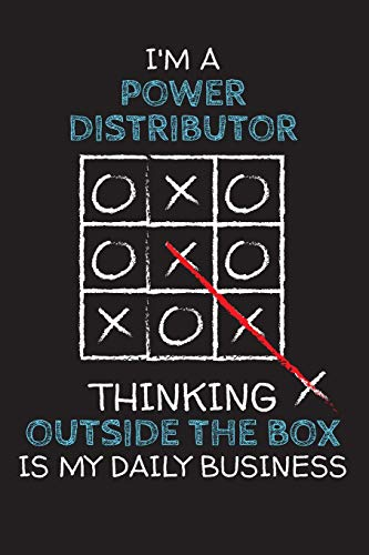 I'm a POWER DISTRIBUTOR: Thinking Outside The Box - Blank Dotted Job Customized Notebook. Funny Profession Accessories. Office Supplies, Work ... Retirement, Birthday & Christmas Gift. - Power-keychain