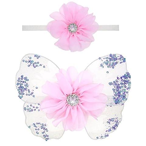Oyedens Filles Accessoires Pour Cheveux, BéBé Ange Ailes De Papillon Photo Prop (A)