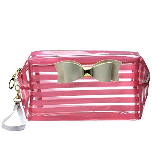 Beauty Case,Culater® Sacchetto impermeabile sacchetto cosmetico di immagazzinaggio sacchetto di trucco (Pink)