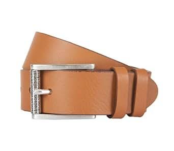 STRELLSON ceinture hommes ceinture en cuir pure cuir bouvillon marron, Länge:115 cm;Farbe:braun