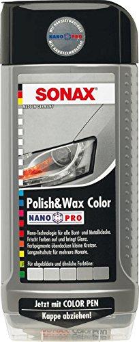 Preisvergleich Produktbild 500ml SONAX POLISH & WAX COLOR NANOPRO SILBER/GRAU AUTOPOLITUR LACK POLITUR
