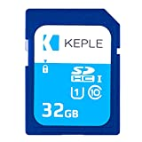 Keple Carte Mémoire SD DE 32 Go par Carte SD Quick Speed pour Nikon Coolpix A900, CP A10, A100 SLR Appareils Photo numériques | Carte Mémoire SDXC UHS-1 U1 UGB-1 DE 32 Go pour vidéos et Photos HD
