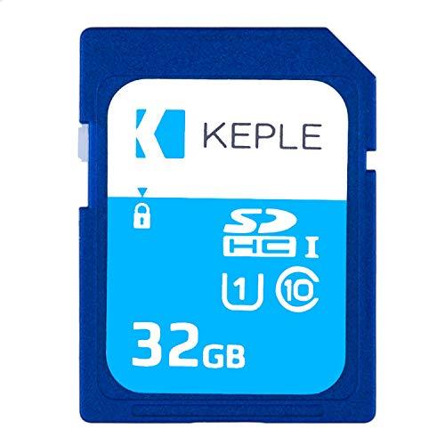Keple 32GB SD Speicherkarte SD Karte für Canon EOS M50, M100, M6, M5, 80D, 2000D, 4000D, 9000D, Rebel T7 DSLR Digitalkameras | 32 GB Speicherklasse 10 UHS-1 U1 SDXC-Karte für HD-Videos und Fotos - Gb Video-karte 32