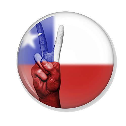 Gifts & Gadgets Co. Untersetzer, Motiv: Chile Flag Peace, rund, 90 mm