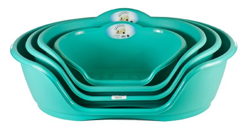 world-of-pets-green-plastic-waterproof-dog-beds-baskets-available-in-4-sizes