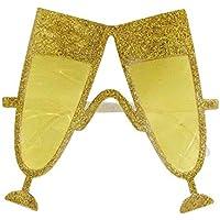 SODIAL Bicchiere di Champagne giallo per la festa in spiaggia alle Hawaii e  il vestito operato 2c6aabca9849