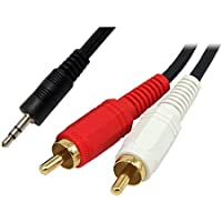 Cable-core - Cable-tex cavo audio da jack 3,5 mm a 2 RCA fono, lunghezza: 3 m, stereo - Fono Rca Audio Stereo