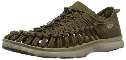 Dark Bronze Leder Schuhe (Keen Damen Uneek O2-M, Dark Olive/Antique Bronze, 40 EU)