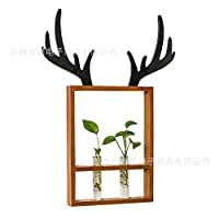 BHGQBS Antler Hydroponic Planting Wall Decoration Green Radish Copper Grass Planter 63 * 47 * 40Cm