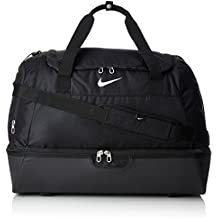 Nike Club Team Swoosh Hardcase XL Borsone, 60 cm, 62 liters, Nero (Schwarz/weiß)