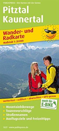 Pitztal, Kaunertal: Wander- und Radkarte mit Ausflugszielen & Freizeittipps, wetterfest, reißfest, abwischbar, GPS-genau. 1:35000 (Wander- und Radkarte / WuRK)