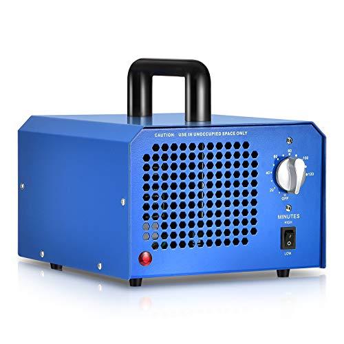 GCSJ Generador de Ozono Comercial 3000 a 7000mg/h con Temporizador Ajustable y Configuración de Flujo...