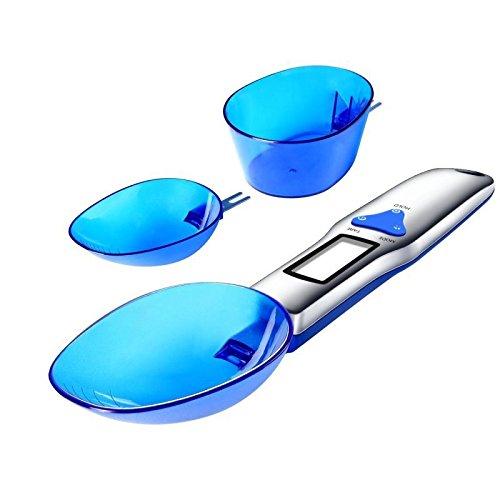 MERES Digitale Löffelwaage 500g / 0,01g Elektronische Messskala mit 3 abnehmbaren Wiegeschlägen (Keine Batterien im Lieferumfang enthalten)