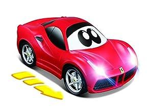 BB Junior Press&Charge: Coche de Juguete Ferrari 488GTB, autocarga Mediante Press & Pull, se Ilumina Durante la conducción, a Partir de 24 Meses, Rojo (16-81607)