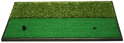 Pro Active Dual-Surface Hitting/Practice, Chipping And Driving Golf Grass Mat With Fairway And Rough Surfaces