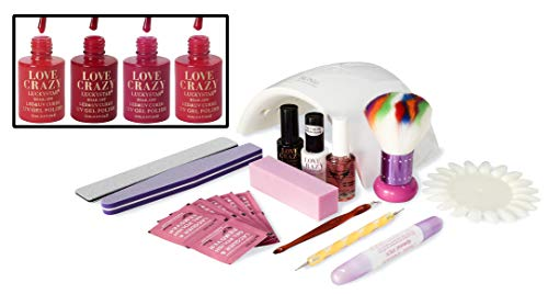LoveCrazy 4pcs Kit De Colores 1- 4 Esmaltes en Gel Manicura...