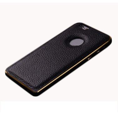 F8Q Prestige Metal Case Bumper cadre en cuir PU Housse de protection pour iPhone 5S blanc