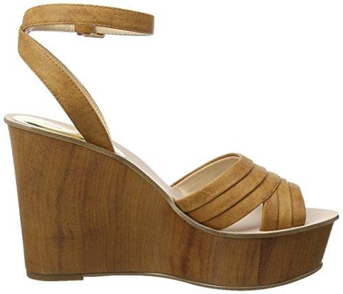 Miss Selfridge Wedge, Strap Alla Caviglia Donna Brown (Tan)