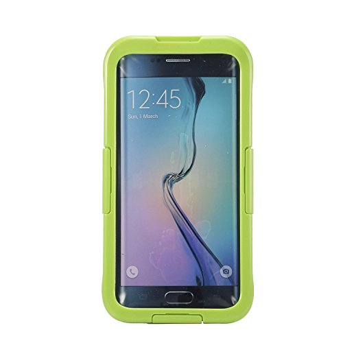 Ultra Dünn New IP68Wasserdicht Schutzhülle Unterwasser Schnee stoßfest staubdicht vollständig versiegelt Telefon Shell für Samsung Galaxy S6Edge +–Fluoreszierend Grün (Phone Number Search Uk)
