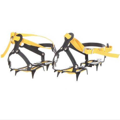 Lixada Cinghia Tipo Ramponi da ghiaccio Sci Cintura alta quota Escursioni Slip-resistant 10 Crampon camp
