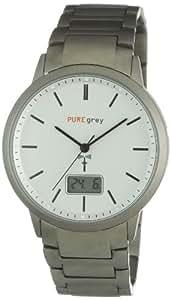 Pure grey Titan Herren - Funkuhr 1631 W
