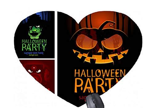 Halloween Party Beispieltext hier Kombination | Vintage Kostüme der Monster-Hüte herzförmige Mausunterlage