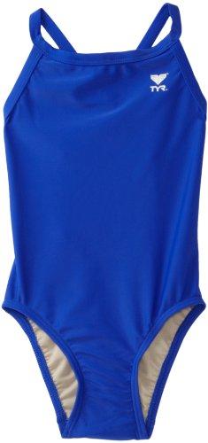 TYR Sport Mädchen 'Solid Diamondback Swim Suit, Mädchen, königsblau, 24 - Diamondback Bikini