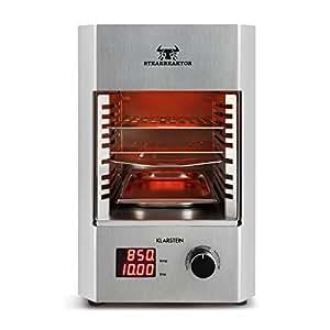 klarstein steakreaktor 2 0 edizione acciaio inox griglia indoor griglia elettrica 850 c. Black Bedroom Furniture Sets. Home Design Ideas