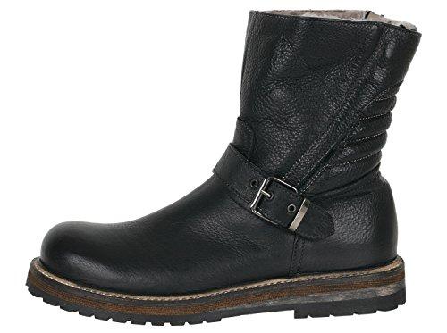 Momino 2714 m biker boots bottes fille de mouton Noir - Schwarz (Lux Nero 80007)