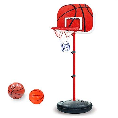 Foto de Pellor Ajustable Canasta Aro de Baloncesto Se puede Subir y Bajar para Niños