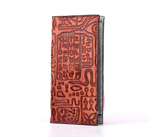 Ploekgda Frauen echtes Leder Brieftasche Damen Kreditkarte Clutch Holder Handtasche Geldbörse (Color : Red)