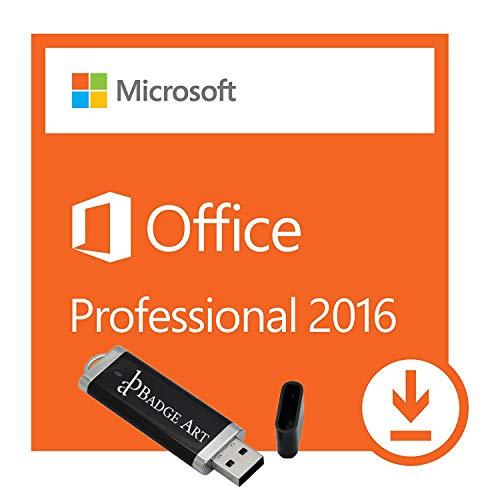 Microsoft® Office Professional Plus 2016 ISO USB. 32 bit & 64 bit - Original Lizenzschlüssel mit USB Stick von Badge Art®