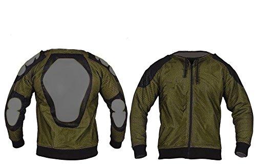Bikers-Gear-UK-Moto-rimovibile-Armoured-Full-Kevlar-Ultimate-Protezione-Nero-con-cappuccio
