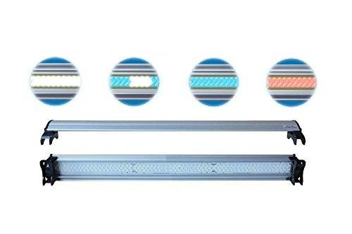 Plafoniera LED LFLC 45 cm - Lampada LED in varie colorazioni, ultra slim con supporti per il fissaggio a bordo vasca (LED Bianchi)