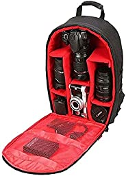 Ketsaal DSLR/SLR Light Weight Backpack Bags(Red)