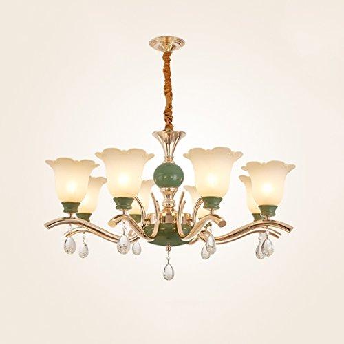 8 Köpfe europäischen Stil Kronleuchter Smaragd Luxus Atmosphäre Kronleuchter Wohnzimmer Esszimmer Hotel Villa Kronleuchter (größe : 8heads)