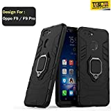 Taslar Dual Layer Armor Defender Full Body Protective Back Case Cover for Oppo F9 / F9 Pro (Black)