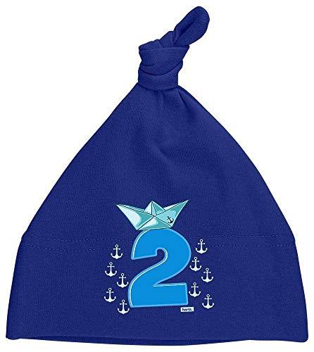 HARIZ Baby Mütze Knoten Pirat Schiff Hut 2 Geburtstag Kinder Baby Plus Geschenkkarte Matrosen Dunkel Blau