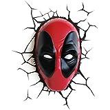 3DLightFX Plastic and Metal Deadpool Deco Light Mask (16.2 cm x 9.49 cm x 25.5 cm)