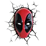 3DLIGHTFX Deadpool Lampe, 2002331, Rouge/Noir