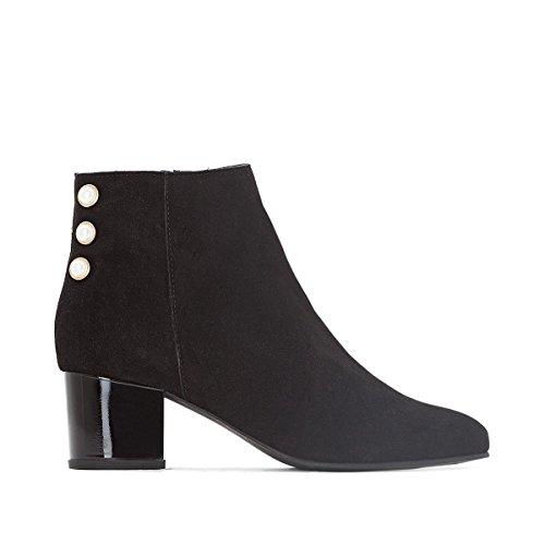 La Redoute Mademoiselle R Donna Boots in Pelle Dettaglio Gioiello Nero