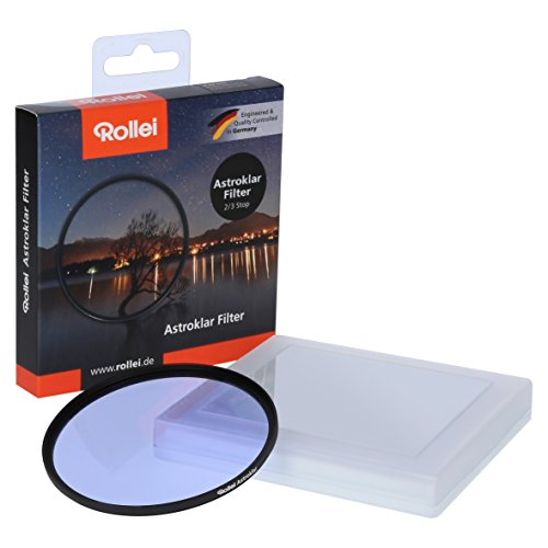 Rollei Astroklar Light Pollution Round Filter I 77mm Night Light Filter I Clear night filter for astrophotography and night photography