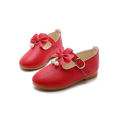 Linlink Luxus gemacht Baypod Weich Synthetik Leder Stil Baby Mädchen Creme/Elfenbein Weiß Rosa Besondere Anlässe Taufe Hochzeit Party Schuhe (0-3 Monate, Rosa)
