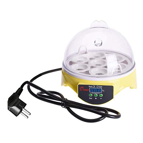 7 Uova di Controllo della Temperatura Uova incubatrice Vestito per polli Anatre oche quaglie Pappagallo, Giallo