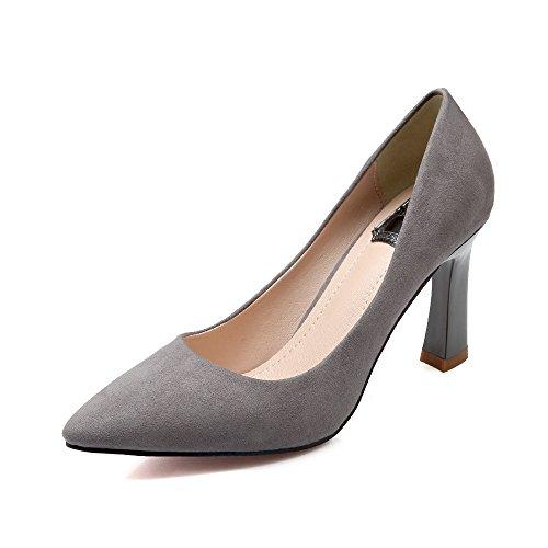 Shoemaker's heart Pelle scamosciata scarpe europeo di primavera e autunno Moda scarpe singolo basso appuntita sexy tacco grossolana Thirty-nine