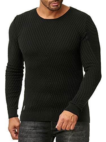 V-ausschnitt Jungen Pullover (Red Bridge Herren Strickpullover V-Ausschnitt Pullover Schwarz M)