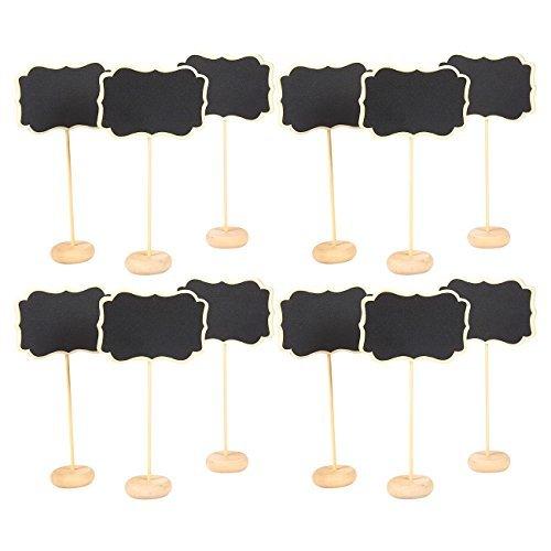 Set von 12Mini Kreidetafel Schilder mit Ständer-Tafel Tischkarte Nachricht Board für Hochzeiten, Tischplatte Zahlen, Lebensmittel Schilder, Kids 'Handwerk, und Event Dekoration (Mason Jar Crafts For Kids)