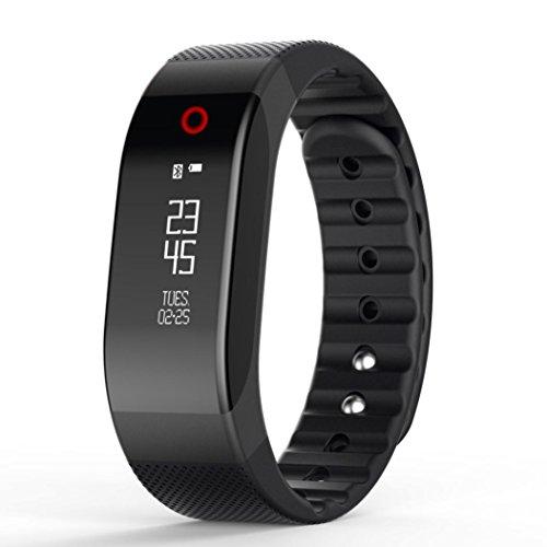 Bluestercool Bluetooth Smart Touch Armband Cool Fitness Wristband Bestseller (Schwarz)